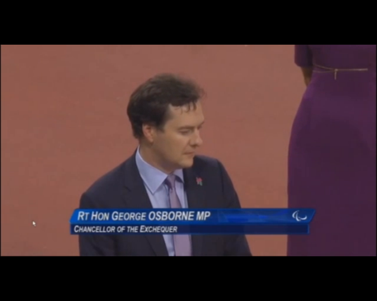 George Osborne at Paralympics